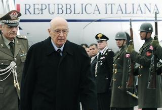 Il Presidente Napolitano al suo arrivo in Turchia