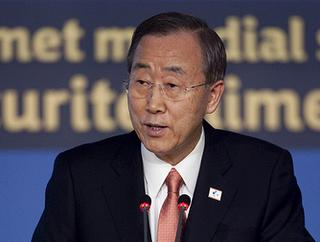 Il segretario generale dell'Onu, Ban Ki-moon