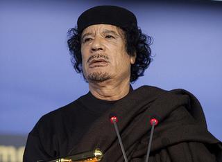Il leader libico, Muhamar Gheddafi