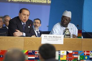 Silvio Berlusconi e Jacques Diouf