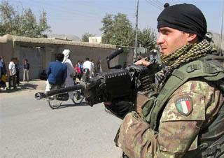 Militare italiano a Kabul