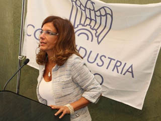 La presidente di Confindustria, Emma Marcegaglia