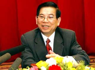 Il Presidente vietnamita, Nguyen Minh Triet