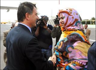 Il ministro degli Esteri Frattini e la sua omologa della Mauritania, Naha Mint Mouknass