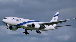 """Un aereo della compagnia israeliana """"El Al"""""""