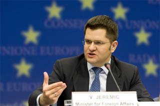 Il ministro degli Esteri serbo, Vuk Jeremic