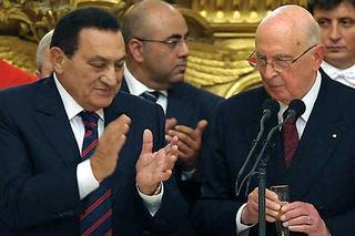 Mubarak e il presidente Giorgio Napolitano
