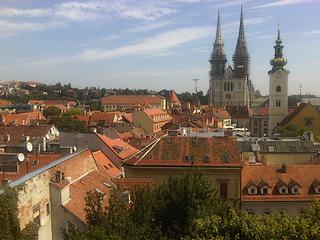 Zagabria, i tetti del centro storico