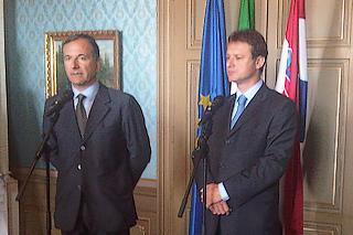 Frattini e il ministro degli Esteri croato, Gordan Jandrokovic