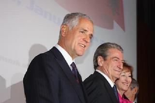 Roberto Formigoni, Sali Berisha e Letizia Moratti