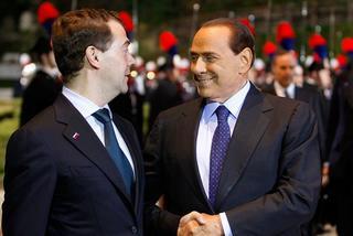 Medvedev con Berlusconi