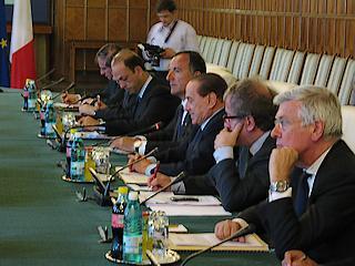 La delegazione governativa italiana