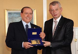 Berlusconi e il sindaco di Bucarest, Sorin Oprescu