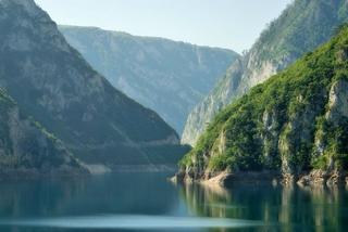 Il fiume Piva, al confine con la Bosnia-Erzegovina