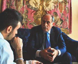 Il ministro degli Esteri del Montenegro, Milan Rocen, durante l'intervista con Agenzia Nova
