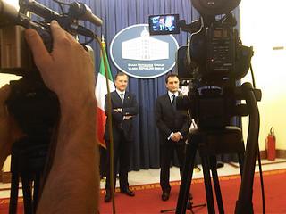 Il ministro Frattini ed il vicepremier serbo Bozidar Djelic