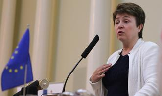 Il commissario europeo Kristalina Georgieva