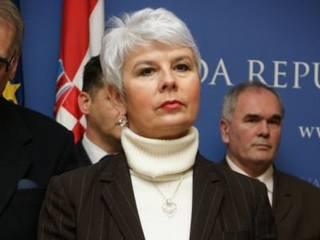 La premier croata, Jadranka Kosor