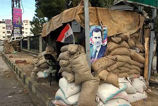 Damasco, postazione filo-governativa