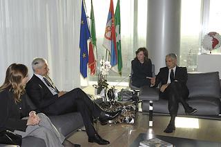L'incontro tra il presidente serbo Tadic e il presidente della regione Lombardia Formigoni