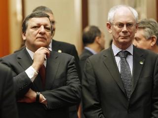 Barroso insieme a Van Rompuy