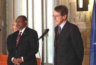 Giulio Terzi insieme a Abdiweli Mohamed Ali