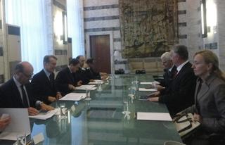 Riunione del ministro degli Esteri Terzi e Lagumdzija