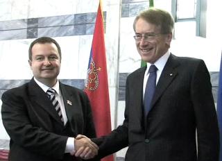 Ivica Dacic con Giulio Terzi