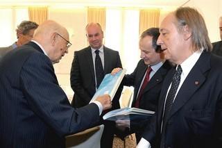 Il presidente della Republica Giorgio Napolitano a Lubiana