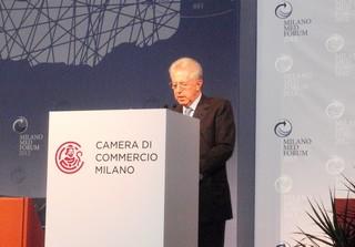 Il premier Monti al Med Forum di Milano
