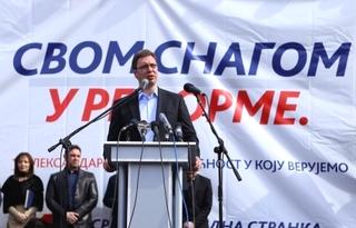 Il presidente del Partito progressista serbo, Aleksandar Vucic