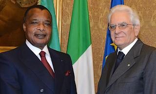 Presidente Sergio Mattarella  riceve Presidente Congo Brazzaville Denis Sassou-N'Guesso