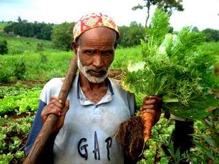 Un contadino coinvolto nel progetto di cooperazione Benishangul-Gumuz