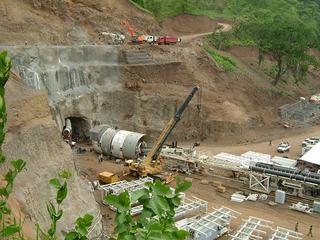 Gingel Gibe II: lo scavo del tunnel