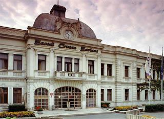 L'ingresso della fabbrica Zastava, a Kragujevac