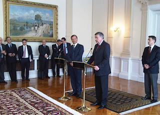 Il ministro Frattini e Nebojsa Radmanovic