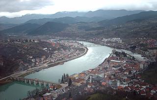Il fiume Drina a Visegrad