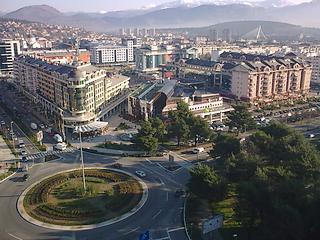Panorama di Podgorica, capitale del Montenegro
