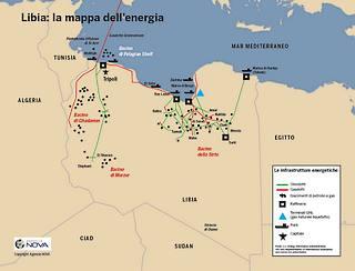 Libia: la mappa dell'energia