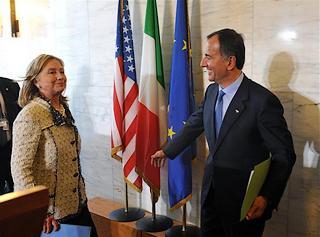 Frattini e Hillary Clinton