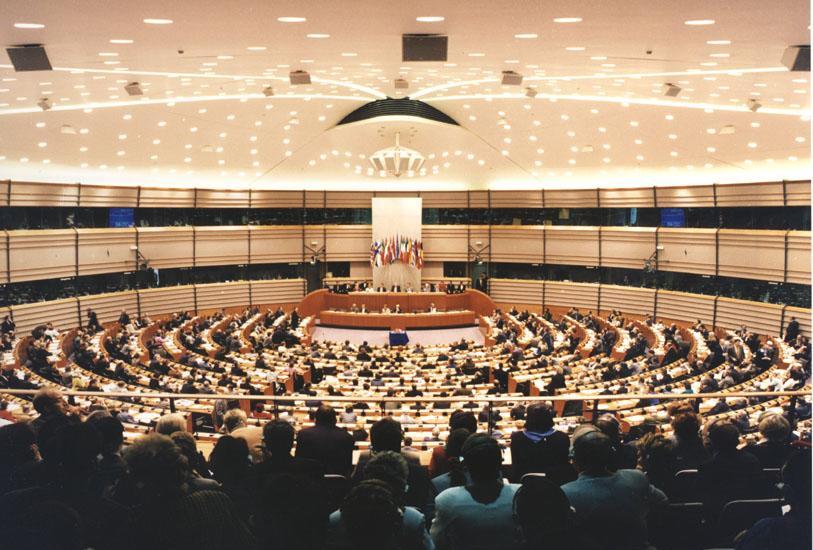 Sala plenaria del Parlamento europeo
