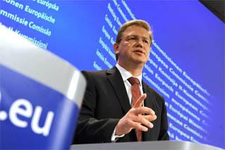 Il commissario europeo all'Allargamento, Stefan Fuele